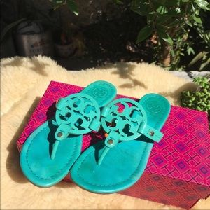 🏖🏖Tory Burch Miller Sandals Turquoise Sz 5.5🏖🏖